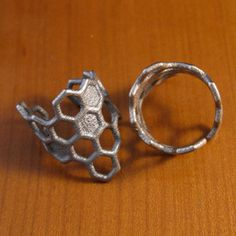 Honeycomb Ring Steel now featured on Fab.