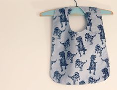 Reversible Boys Baby Bib with snaps by CottontailNZ on Etsy