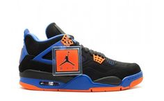 detailed look 2be40 48a1a air jordan 4 retro cavs black safety orange-game royal - christmas top  offers on cheap real jordans!