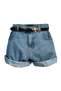 Denim-Shorts-with-Turn-ups