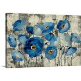 Found it at Wayfair - Aquamarine Floral by Silvia Vassileva Gallery Painting Print on Wrapped Canvas