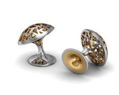 Joseph Jackson - Cufflinks in Platinum and Gold.