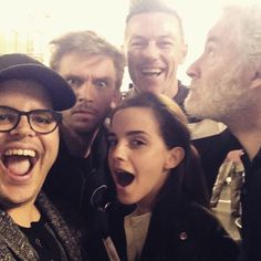 """Josh Gad shared a photo with his fellow Beauty and the Beast co-stars on Instagram, including Emma Watson, Luke Evans, Kevin Kline and Dan Stevens. Gad captioned the snapshot, """"Can't wait for you to be our guest!"""""""