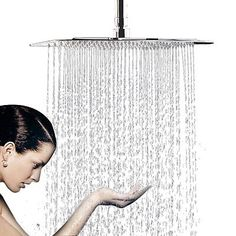 Chrome 16 inch Square Rain Showerhead High Pressure Large Top Sprayer, Shipping FREE, Item location USA (  Type - shower head, Finish - Chrome, Material - brass, Featured Refinements - High Pressure Shower Head, Bundle Listing - Yes, UPC - 710185491622     )