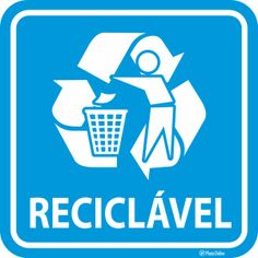 Placa lixo reciclável 1, Hollywood, Recycle Symbol, Fun Math Activities, Licence Plates, Tattoo Female, Middle, Reading