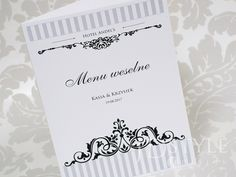 Harmonogram podawania potraw na weselu lub innym przyjęciu.