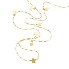 https://www.cityblis.com/2069/item/11663 | STARWALK - NECKLACE - $275 by ARSLEV JEWELRY | IZABEL CAMILLE  925 Sterling Silver  18 Carat Gold Plating with 9 small stars  Size: 39.4 in ~ 100 cm  www.arslev.com | #Necklaces