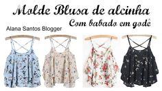 Molde  blusa de alcinha godê Alana Santos Blogger