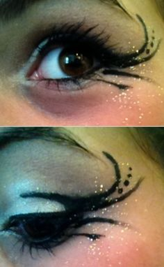 My actual dance makeup(: turned out great!