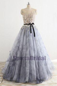 8fe795d593 A-line Floor-Length Fairy Unique Design Gorgeous Long Newest Elegant Formal  Prom Dresses