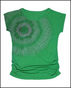Beautiful graphic printed fashionable top in Green color for young girls who likes to follow  latest trends.  Made from good quality streachable cloth, So it will fit for all girls.