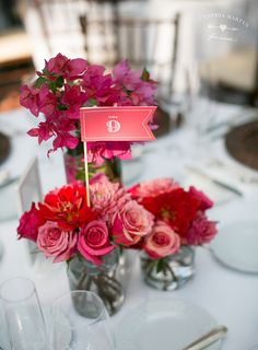Table Number Flags, Cynthia Martyn Events