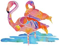 Tampa Nic Flamingos Painting