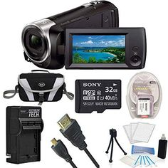 Sony HD Video Recording HDRCX405 Handycam Camcorder Black Ultimate Bundle with 32GB High Speed Micro SD Card, Spare High Capacity Battery, AC/DC Charger, Table top Tripod, Padded Case, Micro HDMI Cable, LCD Screen Protectors, and Lens Cleaning Kit review - http://www.bestseller.ws/blog/camera-and-photo/sony-hd-video-recording-hdrcx405-handycam-camcorder-black-ultimate-bundle-with-32gb-high-speed-micro-sd-card-spare-high-capacity-battery-acdc-charger-table-top-tripod-padded-ca