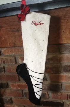 Personalized Irish Dance Ghillie Christmas Stocking