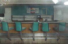 Abandoned Shut Up Howard Johnson's Restaurant  Saginaw, Michigan I-75 Lunch Counter
