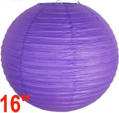 """Royal Purple Chinese/Japanese Paper Lantern/Lamp 16"""" Diameter - Just Artifacts Brand by Just Artifacts. $1.99. Great for party and home decoration. Check Just Artifacts products for more available colors/sizes."""