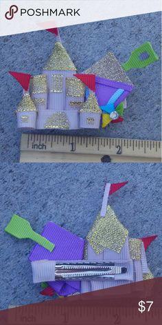 Sand castle handmade boutique hair clip Brand-new handmade boutique hair clip Accessories Hair Accessories