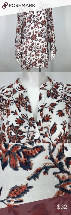 4fbc1d828feb79 Soft Surroundings M Jacobean Floral Tunic Shirt Extra button is still  attached, unworn. One
