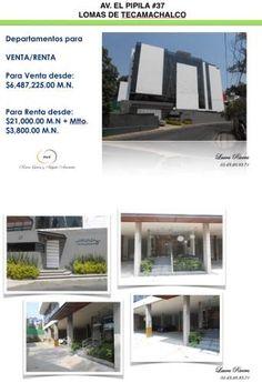 Departamentos en Venta en Av. Blvd El Pipila  37 - Tecamachalco - Naucalpan - Estado De México - Mercado Libre