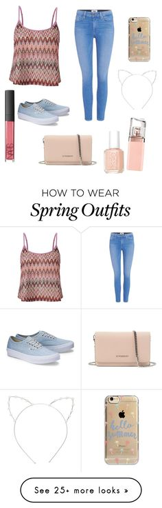 """""""Cute Summer Outfit"""" by lsantana13 on Polyvore featuring Lipsy, Paige Denim, Givenchy, Agent 18, Cara, HUGO, Essie and NARS Cosmetics"""