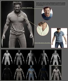 Making Of Wolverine Character with Zbrush by Hossein Diba Wolverine Character, Zbrush Character, 3d Model Character, Character Modeling, Character Design, 3d Modeling, Character Art, Zbrush Models, Zbrush Tutorial