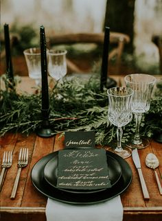 Moody Forest Wedding Inspiration - Inspired By This forest wedding Moody Forest Wedding Inspiration - Inspired By This Woodsy Wedding, Fall Wedding Colors, Wedding In The Woods, Wedding Table, Dream Wedding, Woodland Theme Wedding, Forest Wedding Decorations, Wood Themed Wedding, Forest Wedding Reception