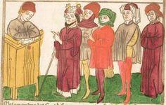 Der Antichrist und die fünfzehn Zeichen vor dem Jüngsten Gericht, [Blockbuch] [Süddeutschland (Schwaben?)], [ca. 1465?, vor 1470]  Folio 12v