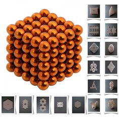 125pcs 5mm DIY Buckyballs Neocube Magic Beads Magnetic Toy Orange.  Check this out at the Tmart link on MomTheShopper.