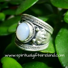 Jade Mandala Ring Adjustable Size