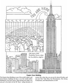 Studying Us Colouring Pages For Kids Ingenuity New York Coloring