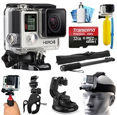 GoPro HERO4 Hero 4 Silver Edition 4K Action Camera Camcorder with Extreme Action Sport Accessory Package includes 32GB MicroSD Card + Selfie Stick Portrait Monopod + Bike Handlebar Mount + Car Windshield Suction Cup + Head Helmet Strap + Floating Float Hand Grip Bobber + Mini Tripod + Dust Cleaning Care Kit (CHDHY-401)  http://www.discountbazaaronline.com/2015/07/12/gopro-hero4-hero-4-silver-edition-4k-action-camera-camcorder-with-extreme-action-sport-accessory-package-includes-32gb-..