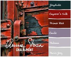 Layers of peeling paint in Annie Sloan colors