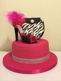 My hot pink shoe and handbag cake