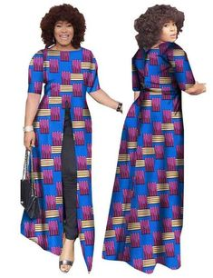 Image of African Dashiki Straight Split Printing Long Dresses African Dresses For Kids, Latest African Fashion Dresses, African Men Fashion, African Attire, African Wear, Afro, African Inspired Clothing, African Dashiki, African Fashion Designers