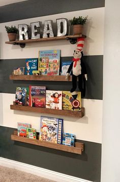 The post Book Shelves Toy Room Shelves Ledge Shelf Picture Ledge Shelf Ledge Shelf Wood Shelf Floating Shelf Book Ledge Picture Ledge appeared first on Children's Room. Baby Room Shelves, Nursery Bookshelf, Wall Bookshelves Kids, Bookshelf Diy, Shelves For Toys, Kids Book Shelves, Playroom Shelves, Playroom Ideas, Picture Ledge Shelf