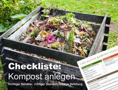 Checkliste Kompost anlegen