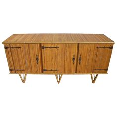 Bamboo Cabinet For Sale at 1stdibs