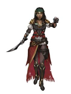 Human Pirate Envoy - Starfinder RPG (First Contact Art)