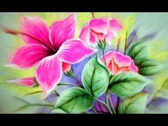 Flor de Cucarda Pintada en Tela (2/2) - YouTube