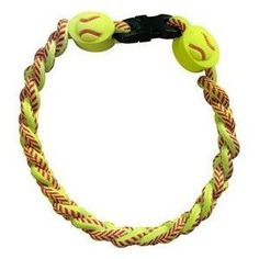 Titanium Ionic Braided Wristband - Softball by IMC. $14.95. Ionic sport accessories are reported to enhance performance through the production of negative ions that counter balance positive ions created during physical stress.  Ion is known to enhance focus and increase stability, provide relief from muscle stiffness and accelerate recovery time.  The necklace will retain ion producing properties when washed or wet. One size fits most.. Save 61% Off!