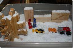 The Snowy Day sensory tub #winter #sensorytub #BFIAR