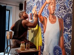 Painter Kehinde Wiley Brings Black American Culture to the Foreground African American Fashion, African American Artist, American Artists, Artist Film, Kehinde Wiley, Teen Art, Contemporary Artists, Modern Art, Film Festival