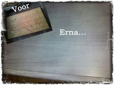 Painting the past... persian grey & witte wax...