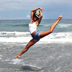 Ballet at the Beach :D