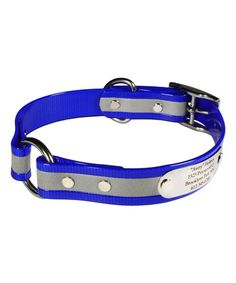 Love this Blue Reflective Personalized Dog Collar on #zulily! #zulilyfinds