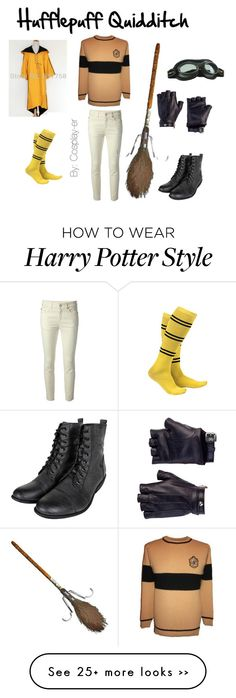 """Hufflepuff Quidditch"" by cosplay-er on Polyvore featuring Les Cinq, Mimi Loves Jimi, Alexander McQueen, harrypotter, hp, Hufflepuff and quidditch"
