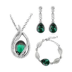Image result for emerald jewelry set