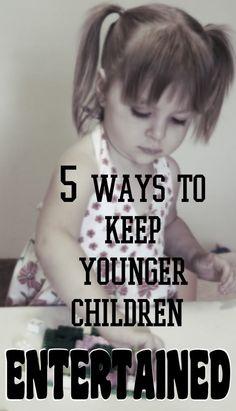 Creative Homeschool: 5 Ways Entertain Younger Siblings.