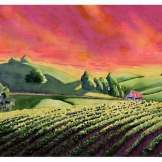 Vineyard - have always loved the vibrant colors of this painting
